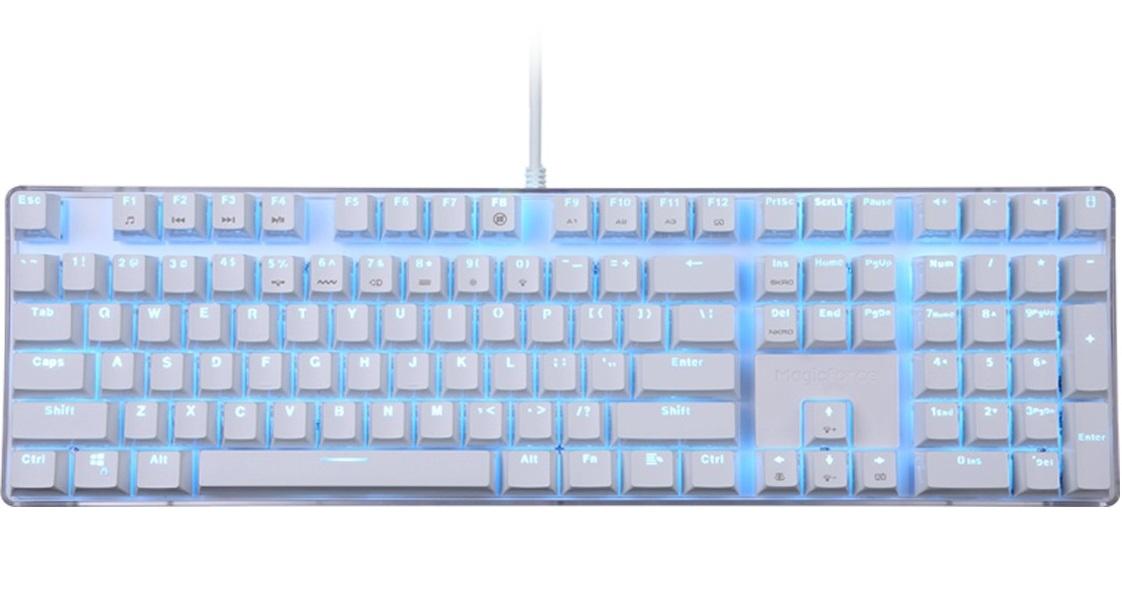 crystal 108键 青轴冰蓝光 机械式键盘magicforce图片